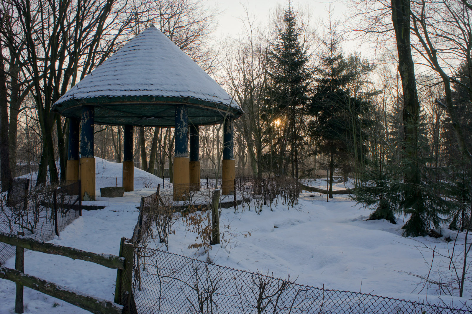 Historical gazebo in the zoo of Łódź