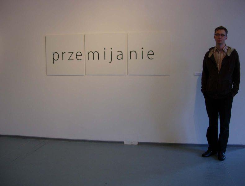 Visiting CSWZU Art Centre Warszawa, work of Stanisław Dróżdż