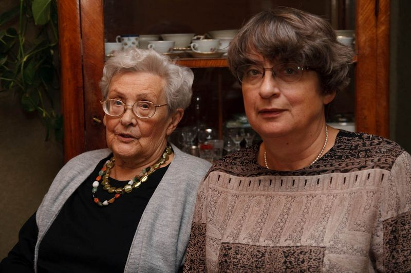 My mother and aunt Jaworska