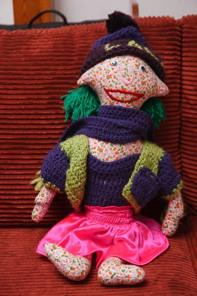 Lala, Zuza\'s new doll tired after a day of playing