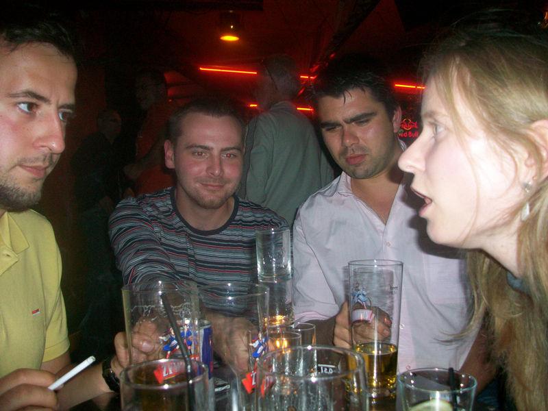Drinking and having deep conversations in Lodz Kaliska.