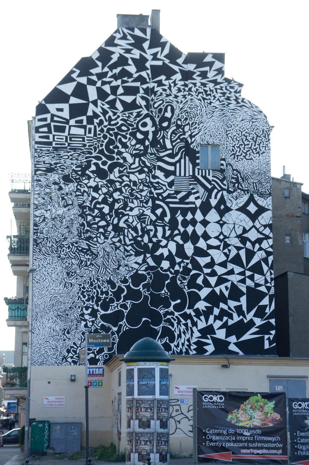 Muurschildering in Poznań