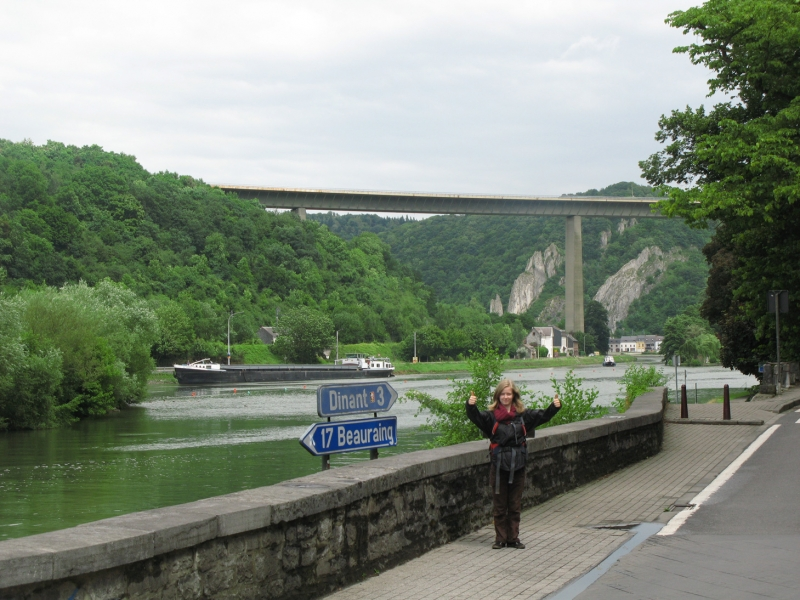 Bridge over Meuse River in Dinant