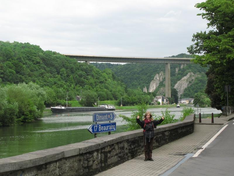 Bridge over Meuse River in Dinant