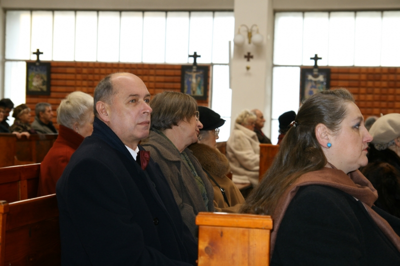 Grandpa and grandma in the church