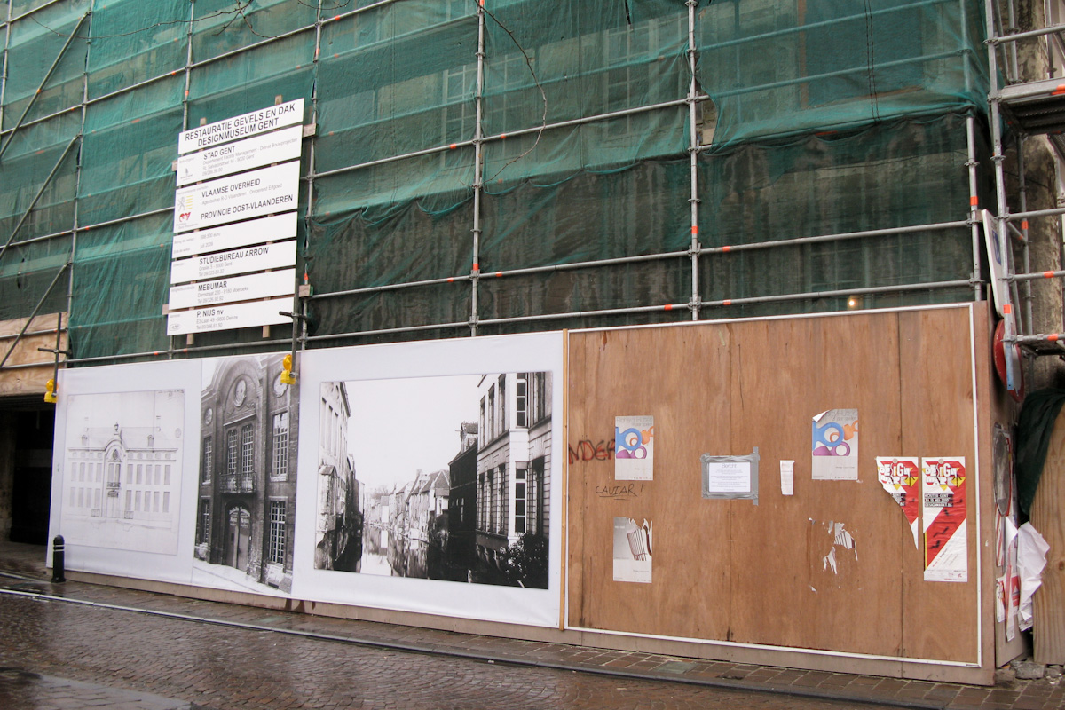 Design Museum in Jan Breydelstraat in Gent gets facade makeover