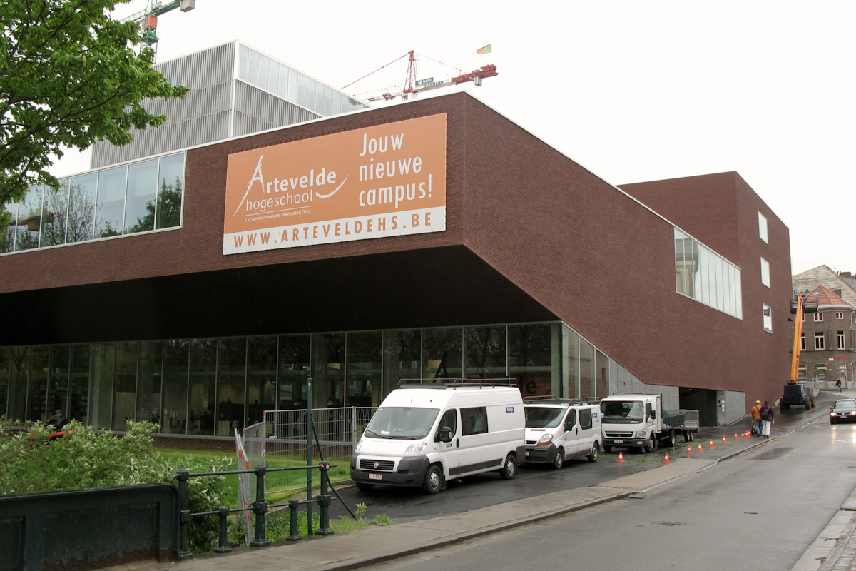 Artevelde Hogeschool - new building in Kantienberg, Gent