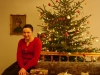 Maja under the christmas tree - the wife of Mikołaj, the brother of Bronek