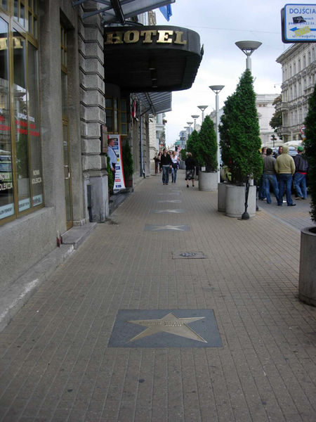 Walk of fame at Piotrkowska