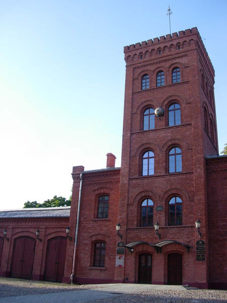 Old firehouse of textile industry, currently officebuilding
