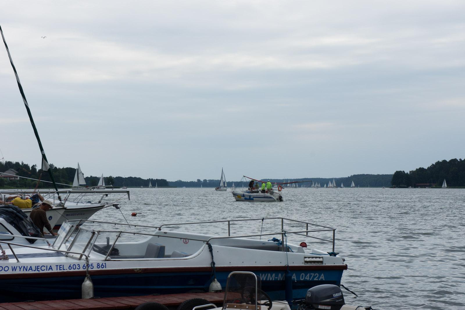 View on Mikołajki lake from Mikołajki wharf