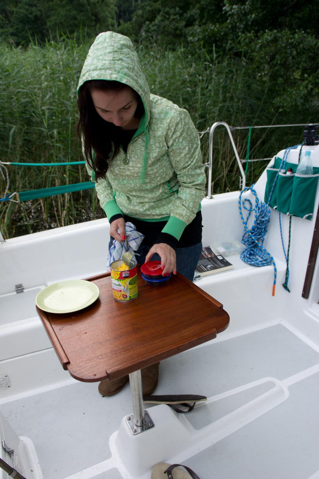Paula prepares the bait