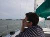 Captain Captain Staszek aan het radioen