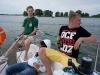 Bronek, Łukasz & Paula on Tałty Lake, Mazury, Poland