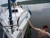 [:en]Evelyn 4 moored to our stern due to large draft[:pl]Evelyn 4 z uwagi na duże zanurzenie zacumowana do naszej rufy[:nl]Evelyn 4 afgemeerd naar ons sipegel wegens groot diepgang