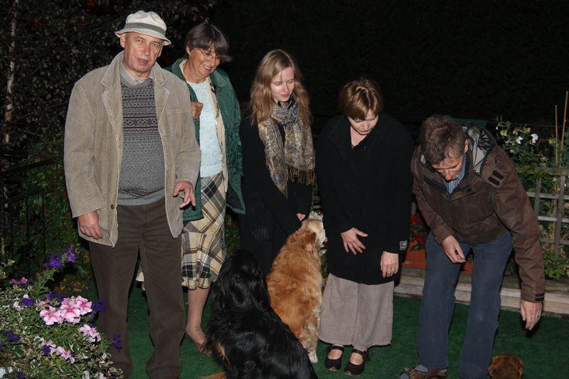 ZdjÄ™cie grupowe na tarasie, ja, Hanne i nasi rodzice