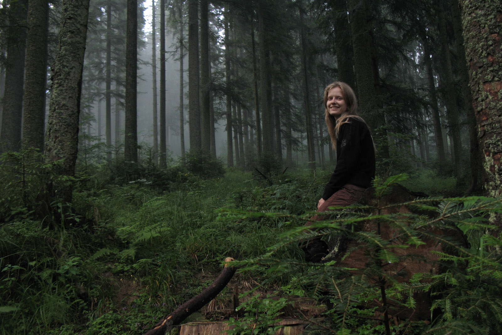 Hanne in the forest of Zgorzelisko