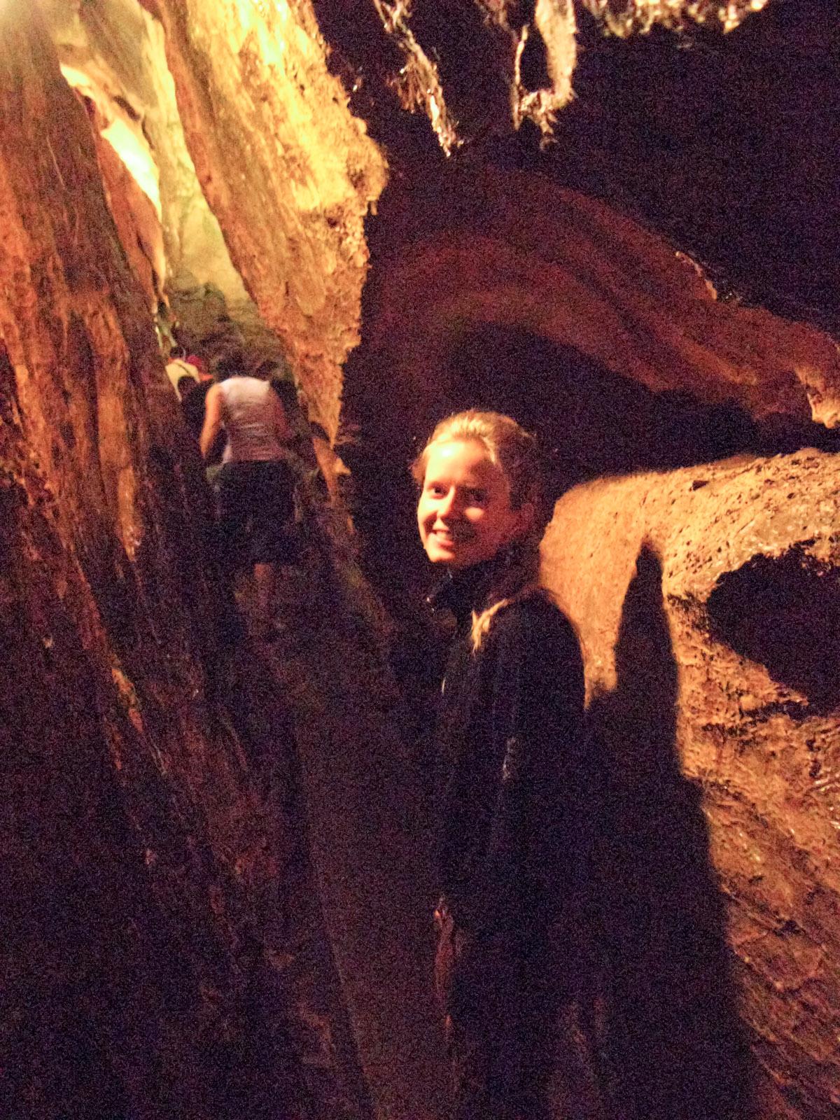 Hanne in Mroźna (Frosty) Cave