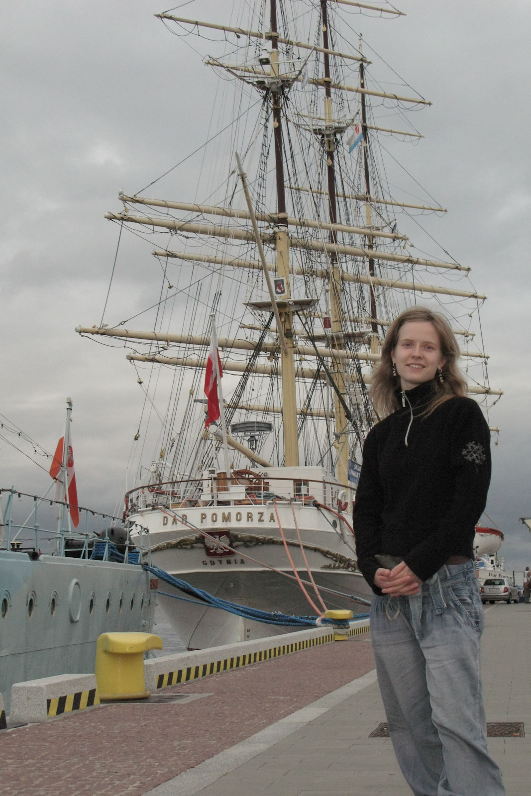 Hanne in the port of Gdynia, KoÅ›ciuszko Wharf
