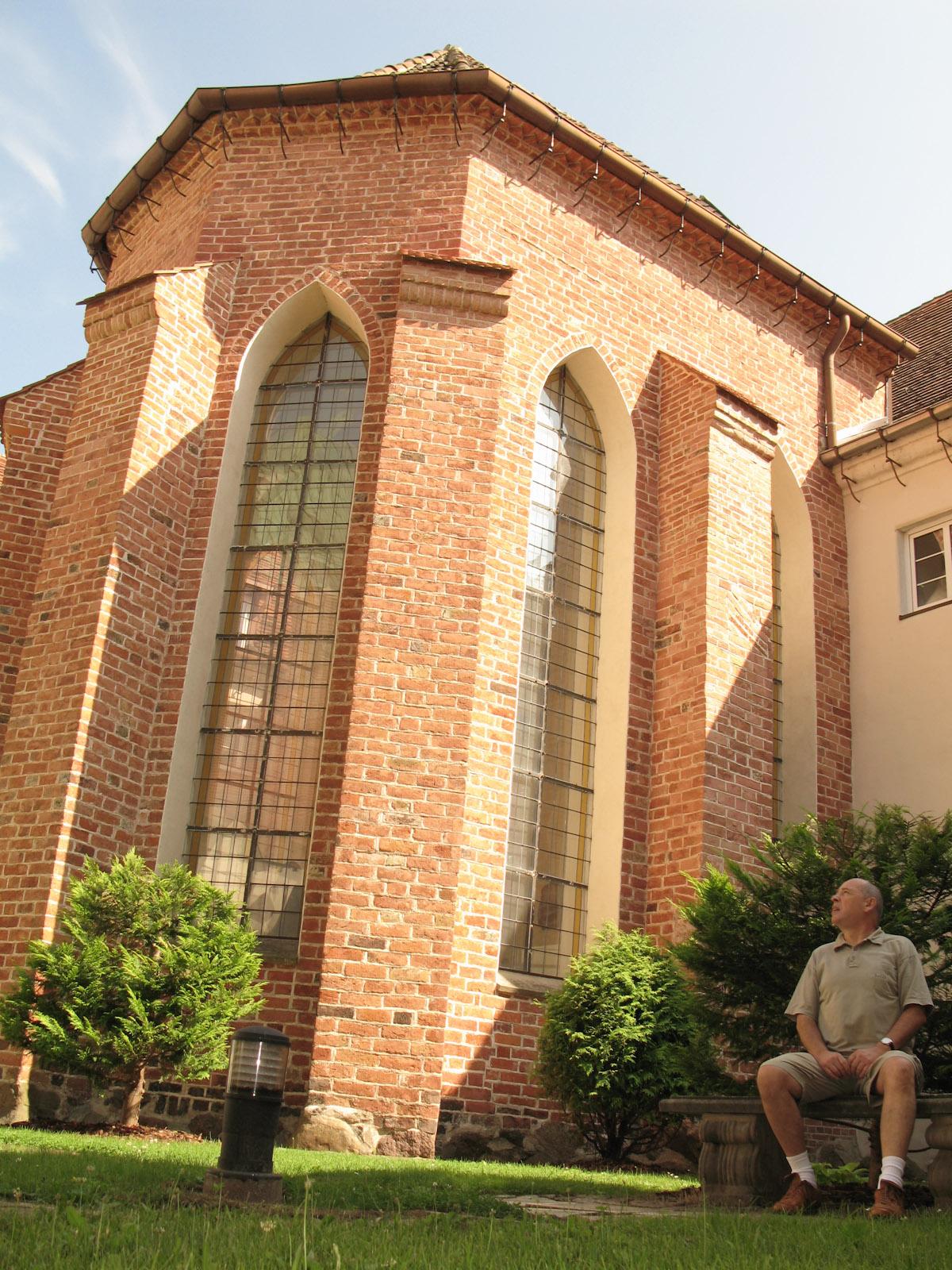 De vader van Bronek in de cisterciënzerabdij in Gdańsk Oliwa