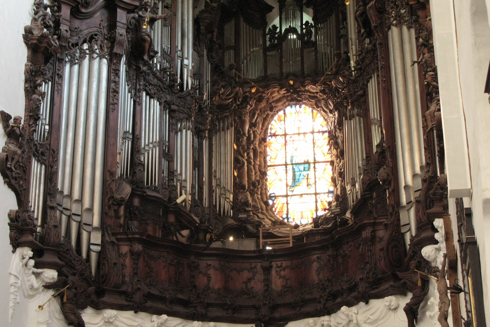 The grand organ of the Cathedral of Gdańsk Oliwa
