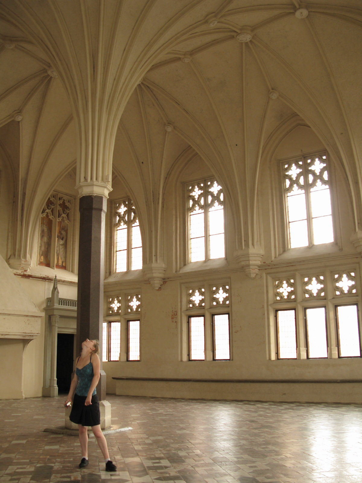 Hanne in the Chapter House of Malbork Teutonic Knights Order Fortress