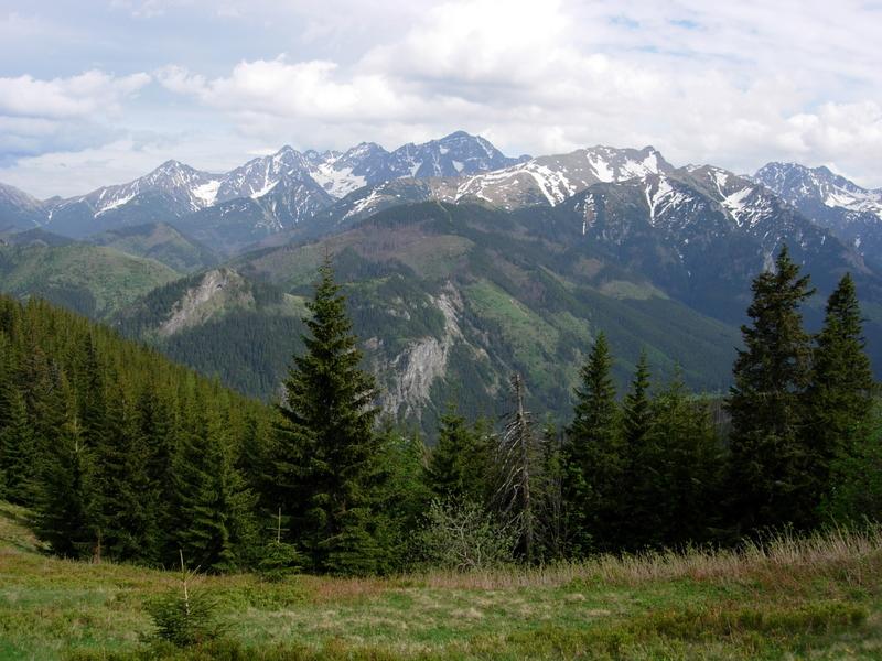 View on GRusinowa glade of the shepherds where they make oscypek