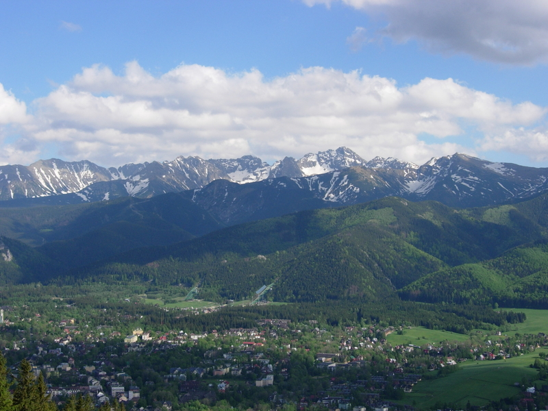 View on Zakopane from the summit of Gubałówka