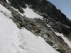 Deze sneeuw hebben we wel nog aangedurfd, maar de volgende overbrugging was dubbel zo lang, dus toen zijn we maar wijselijk teruggekeerd.