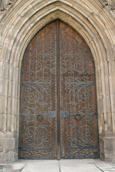 Doors of the Friars Minor Monastery in Wroclaw