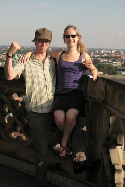 Bronek & Hanne on the tower of Basilica St. Elisabeth