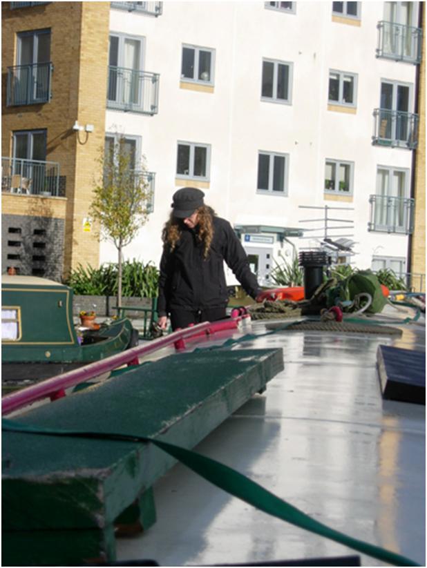 On the boat - Kathrina